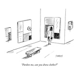 """Pardon me, can you draw clothes?"" - New Yorker Cartoon Premium Giclee Print by David Sipress"