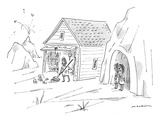 """""""He's always thinking outside the rock."""" - New Yorker Cartoon Premium Giclee Print by Michael Maslin"""