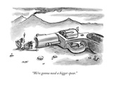 """We're gonna need a bigger spear."" - New Yorker Cartoon Premium Giclee Print by Frank Cotham"