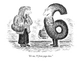 """It's me, '9' from yoga class."" - New Yorker Cartoon Premium Giclee Print by Edward Koren"