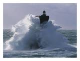 Phare du Four lors d'une tempete Posters by Jean Guichard