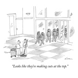 """""""Looks like they're making cuts at the top."""" - New Yorker Cartoon Premium Giclee Print by Michael Maslin"""