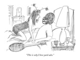 """This is why I love yard sales."" - New Yorker Cartoon Premium Giclee Print by Michael Crawford"