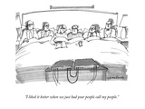 """I liked it better when we just had your people call my people."" - New Yorker Cartoon Premium Giclee Print by Michael Crawford"