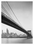Brooklyn Bridge and Manhattan Skyline Prints by Charles Rotkin