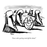 """""""Guess who's getting voted off the island."""" - New Yorker Cartoon Premium Giclee Print by Lee Lorenz"""