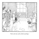 """O.K., this time with a little less feeling."" - New Yorker Cartoon Premium Giclee Print by Matthew Diffee"