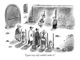 """I guess my wife couldn't make it."" - New Yorker Cartoon Premium Giclee Print by Frank Cotham"