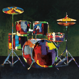 Drum Set Prints by Elli & John Milan