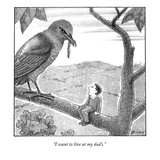 """I want to live at my dad's."" - New Yorker Cartoon Premium Giclee Print by Harry Bliss"