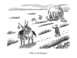 """Dibs on the briefcase."" - New Yorker Cartoon Premium Giclee Print by Frank Cotham"