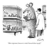 """More important, however, is what I learned about myself."" - New Yorker Cartoon Premium Giclee Print by Mike Twohy"