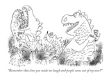 """Remember that time you made me laugh and people came out of my nose?"" - New Yorker Cartoon Premium Giclee Print by Arnie Levin"