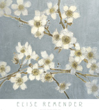 Silver Blossoms I Posters by Elise Remender