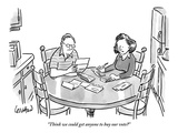 """""""Think we could get anyone to buy our vote?"""" - New Yorker Cartoon Premium Giclee Print by Robert Leighton"""