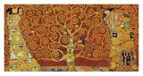 Tree of Life (red variation) Print by Gustav Klimt