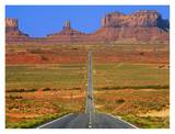 Highway Leading to Monument Valley, USA Posters par Jean-pierre Lescourret