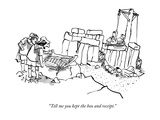 """Tell me you kept the box and receipt."" - New Yorker Cartoon Premium Giclee Print by Sidney Harris"