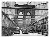 Brooklyn Bridge New Road Opened to Traffic, 1951 Print