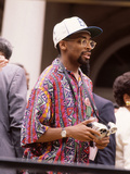 Filmmaker Spike Lee Photographic Print by Moneta Sleet