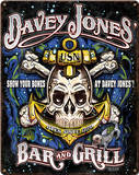 Davey Jones Bar & Grill Steel Sign Cartel de pared