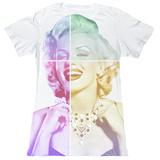 Juniors: Marilyn Monroe - Split Face - T-shirt