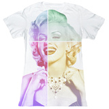 Juniors: Marilyn Monroe - Split Face T-Shirt
