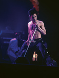 Prince, Shirtless on Stage, March 1986 Photographic Print by Vandell Cobb