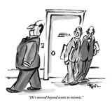 """""""He's moved beyond iconic to totemic."""" - New Yorker Cartoon Premium Giclee Print by Lee Lorenz"""