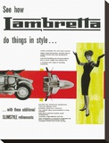 Lambretta Do Things in Style Stretched Canvas Print