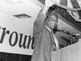 Harold Washington, Waves to Supporters Photographic Print by Michael Cheers