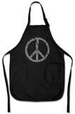 Broken Peace Symbol Apron Apron