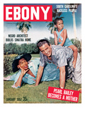 Ebony January 1957 Photographic Print by Howard Morehead