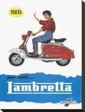 Lambretta 150 Li Lambretta Stretched Canvas Print
