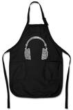 Headphones - Music Genres Apron Forkle
