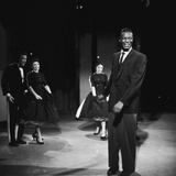 Nat King Cole on Set of His Television Show Photographic Print by Howard Morehead