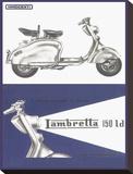 Lambretta 150 Ld Lambretta Stretched Canvas Print
