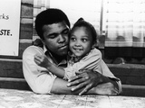 Muhammad Ali,  with His Daughter Maryum, 1974 Photographic Print by Leroy Patton