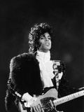 Prince Plays Guitar During Concert, 1984 Photographic Print by Vandell Cobb