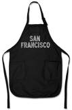 San Francisco Neighborhoods Apron Forklæde