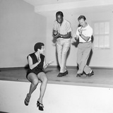 Nat King Cole Rehearses with Marie Bryant and Mel Torme, July 1959 Photographic Print by Howard Morehead