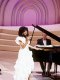 Marilyn Mccoo Performs at the Songwriters' Hall of Fame, May 11, 1989 Photographic Print by Frederick Watkins