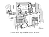 """Actually, I'm not crazy about long walks on the beach."" - New Yorker Cartoon Premium Giclee Print by Leo Cullum"
