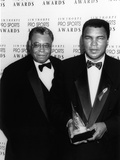 Muhammad Ali with Actor James Earl Jones at the Jim Thorpe Pro Sports Awards, July 6, 1992 Photographic Print by Kenneth Coleman