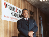 Rev. Al Sharpton, National Action Headquarters, 2001 Photographic Print by Tyrone Rasheed