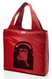 RuMe Steez Monkey Headphones Reusable Tote Bag - Crimson Tote Bag