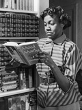 Poet Gwendolyn Brooks with Copy of Maud Martha, in 1963. Photographic Print by David Jackson