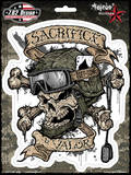Sacrifice And Valor Sticker Stickers