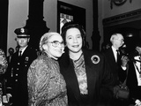 Rosa Parks and Coretta Scott King, at the Rosa Parks Sculpture Unveiling,1991. Photographic Print by Maurice Sorrell