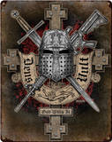 Deus Vult Steel Sign Wall Sign